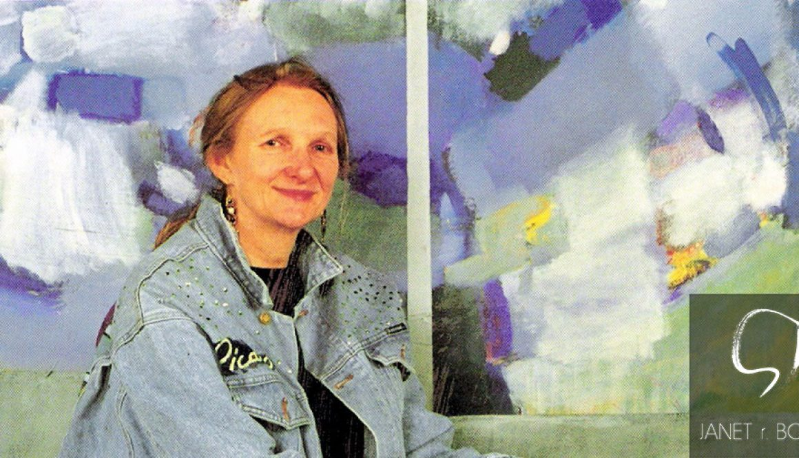 0012.-Janet-R.-Boddy-seated-front-of-painting-invitation-to-Survy-Exh.-1997-phot.-by-Robin-Page.--