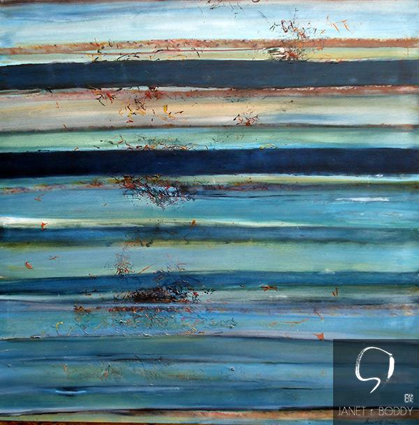 1999, Acrylic on canvas - 122x122cm For Sale