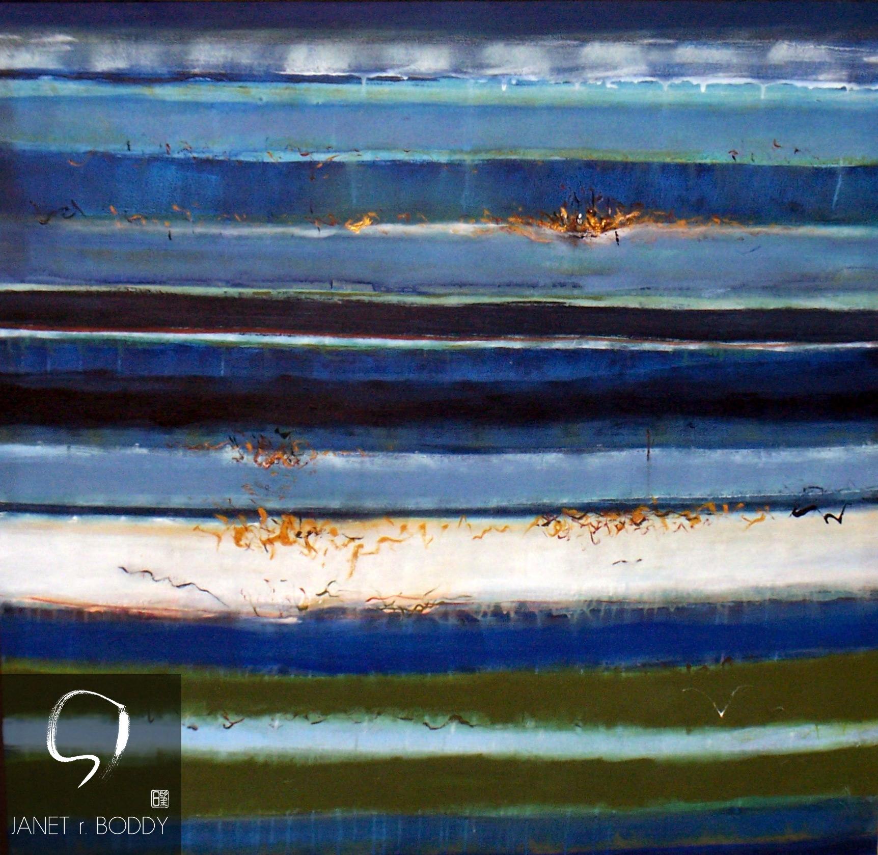 2018, Acrylic on canvas - 107x107cm For Sale