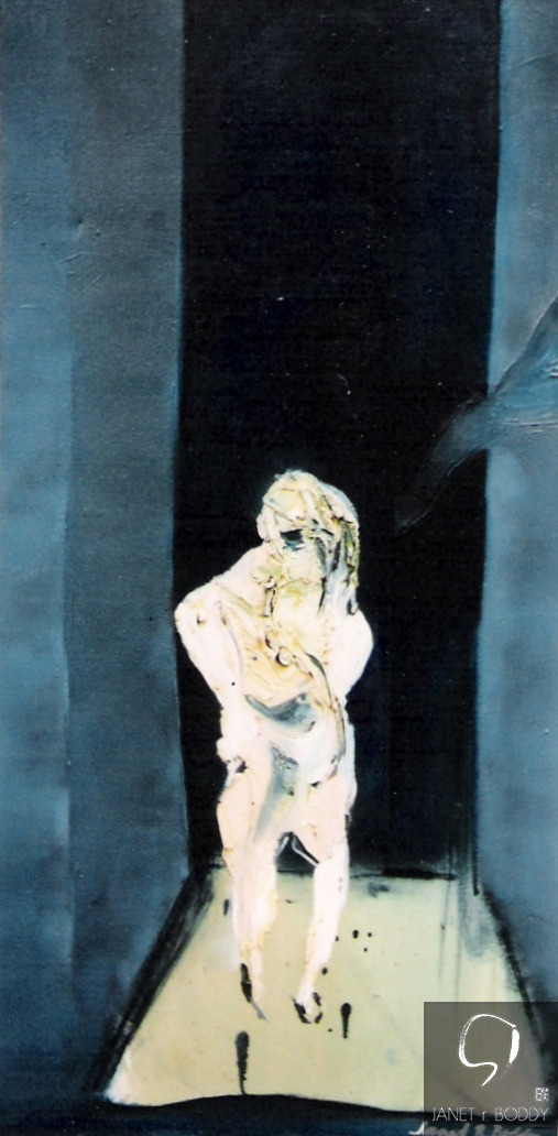 1978, Oil on Canvas  - 91x46cm. For Sale