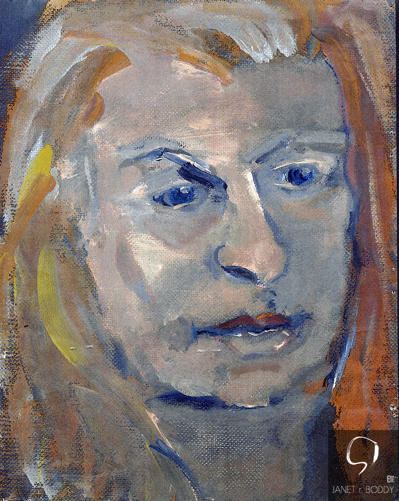 2000, Oil on card - 31x26cm. For Sale