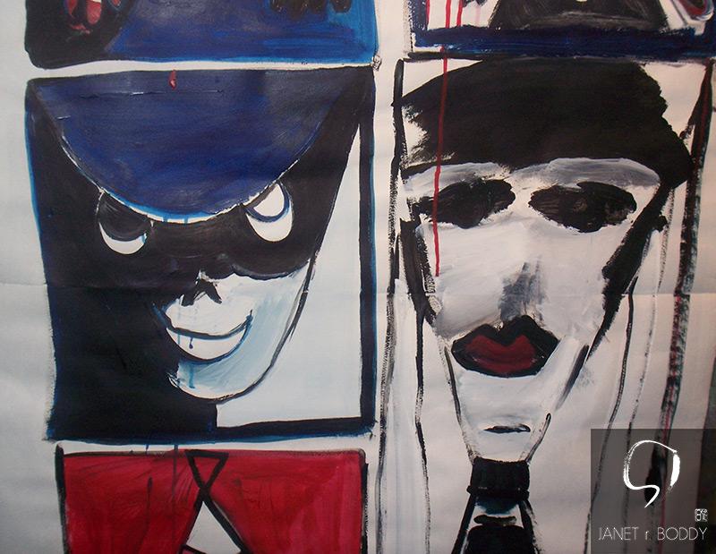 2011, Acrylic on paper