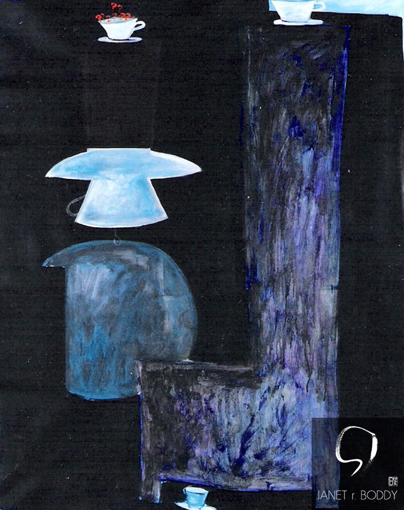 1990, Acrylic on canvas - 122x91cm. For Sale