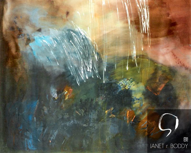 1986, Acrylic on canvas - 122x153cm. For Sale
