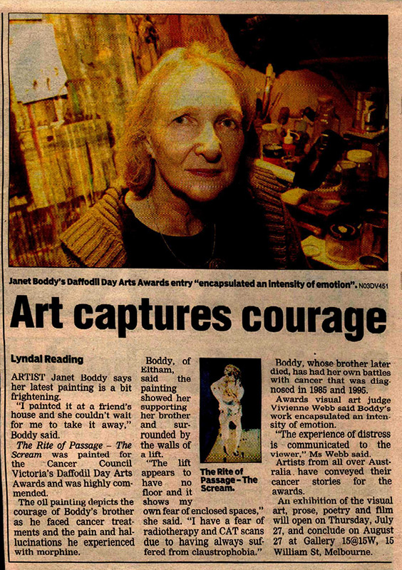 Art captures courage