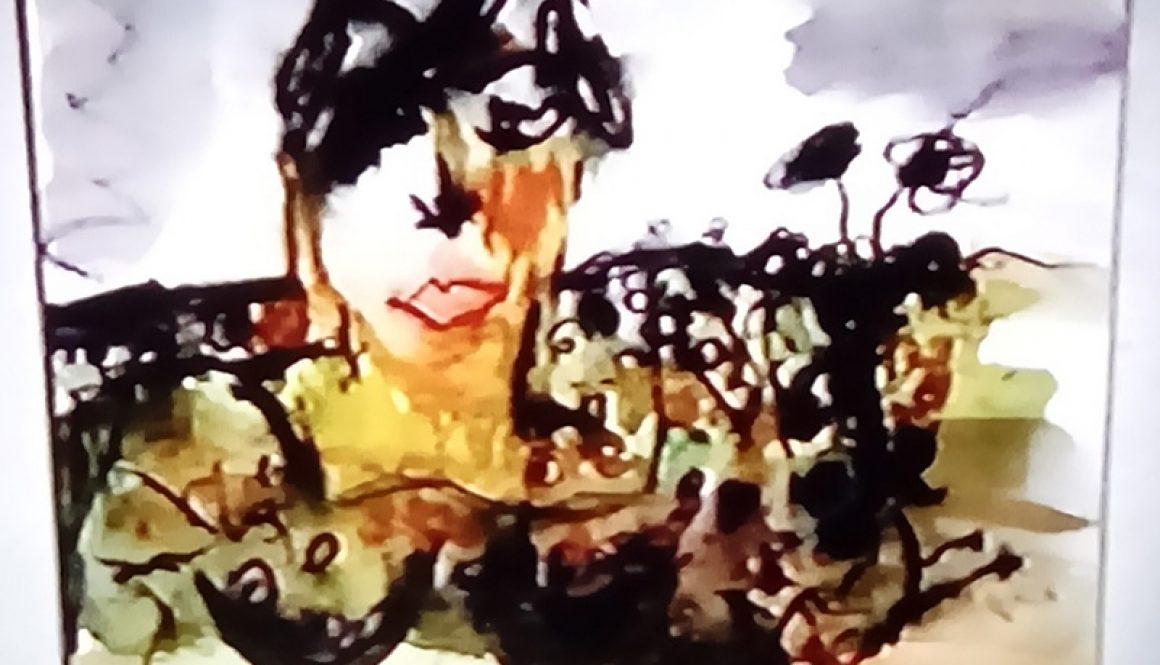 Nullarbor Woman in Landscape
