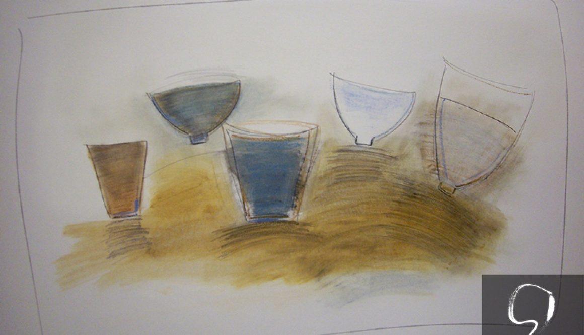 Still life with pots 2