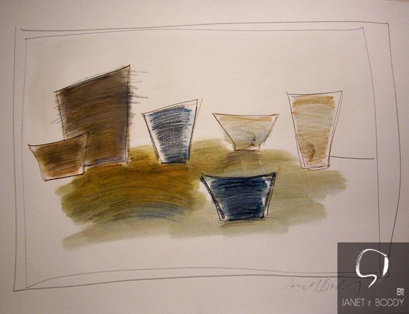 2006, Oil Pastel - 37x63cm. For Sale