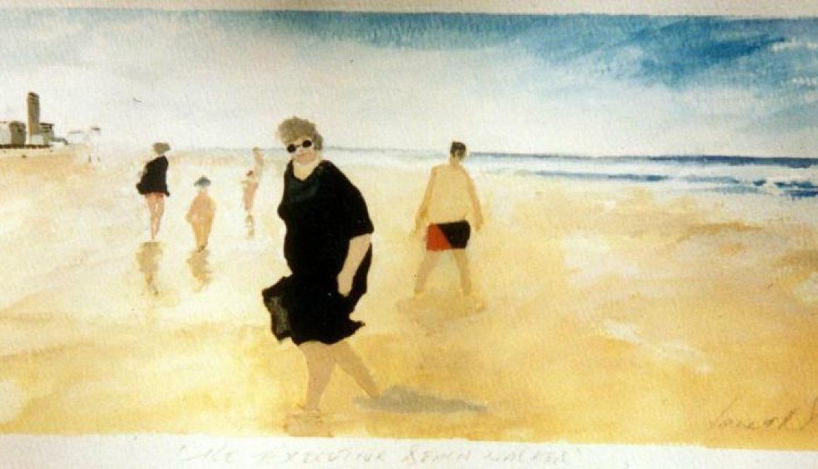 Annie on the Beach 2
