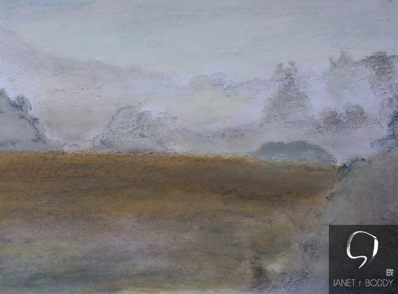 2012, Oil Crayon - 44x64cm. For Sale