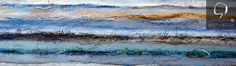 2014, Oil Pastel - 30x86cm. For Sale